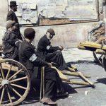 men on the carts 120x75cm