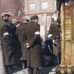 poland ghetto jews are infront of a market 90x120cm
